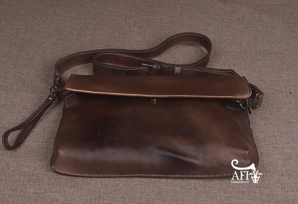 Cặp da nam clutch Bag đeo chéo cầm tay da thật sang trọng CD43 nâu đất 1