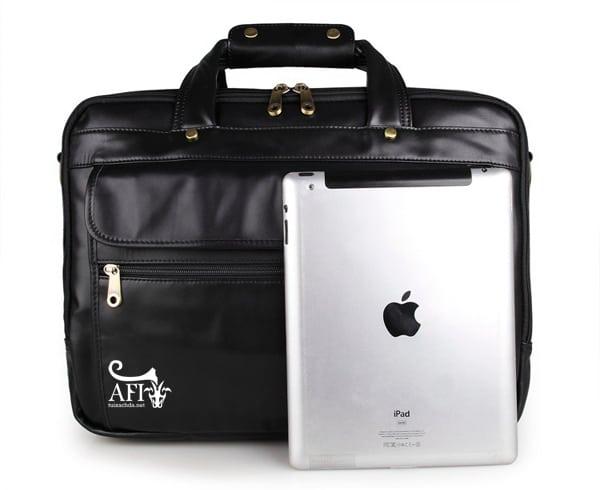 Cặp da nam đựng Laptop 15 inch da thật CD41 cùng iPad