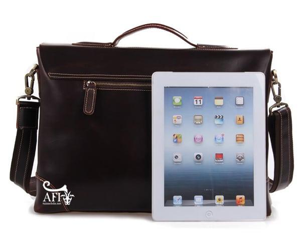 Cặp da nam đựng Laptop 15 inch trẻ trung tiện lợi CD42 cùng iPad