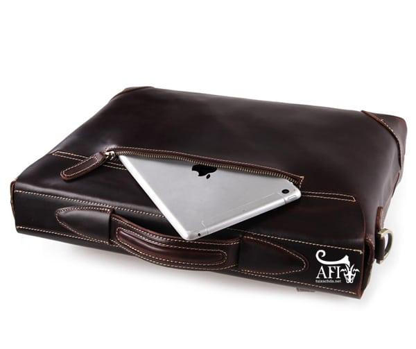 Cặp da nam đựng Laptop 15 inch trẻ trung tiện lợi CD42 ngăn sau