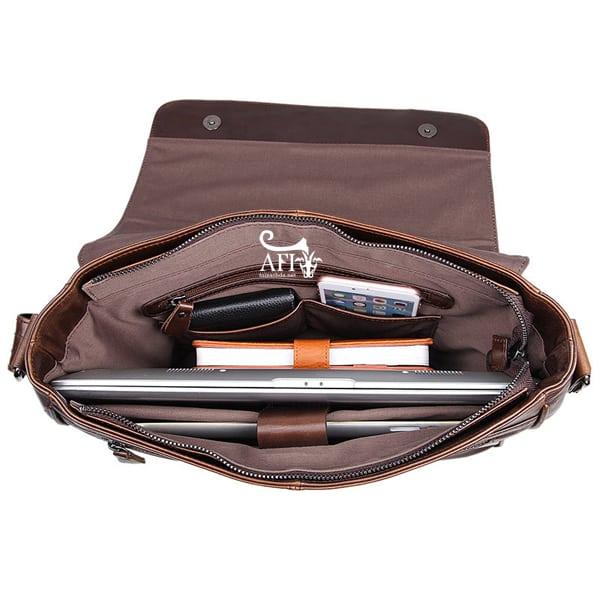 Cặp da nam đeo chéo đựng macbook da thật giá rẻ CD39 1