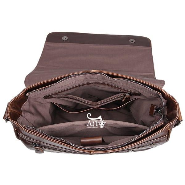 Cặp da nam đeo chéo đựng macbook da thật giá rẻ CD39 ngăn đựng