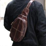 Túi Da Đeo Chéo Sau Lưng Nam TDL19 đeo sau lưng