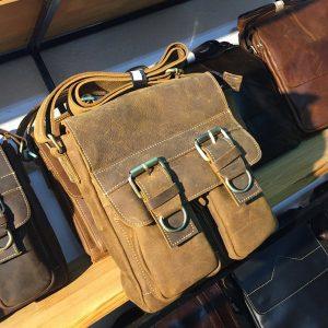 Túi đeo chéo nam công sở da bò mới 2017 KT54
