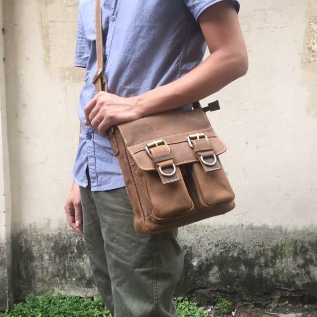 Túi đeo chéo nam công sở da bò mới 2017 KT54 7