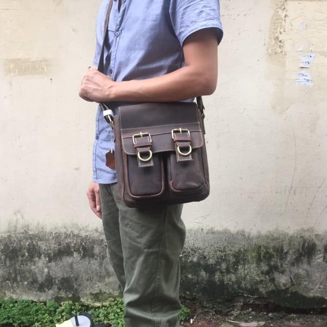 Túi đeo chéo nam công sở da bò mới 2017 KT54 6