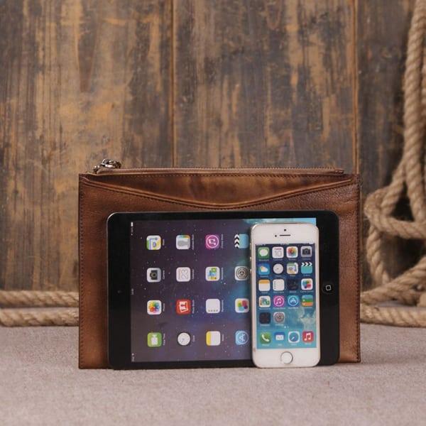 Túi da cầm tay nam thời trang sang trọng CLT001 vừa iPad mini