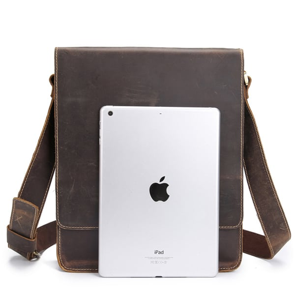 Túi đeo chéo nam công sở da bò sáp đựng tài liệu A4 KT57 vs iPad