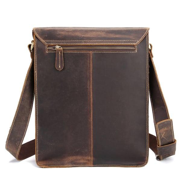 Túi đeo chéo nam công sở da bò sáp đựng tài liệu A4 KT57 mặt sau