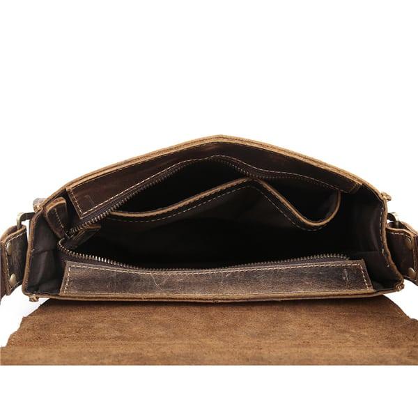 Túi đeo chéo nam công sở da bò sáp đựng tài liệu A4 KT57 mặt trong