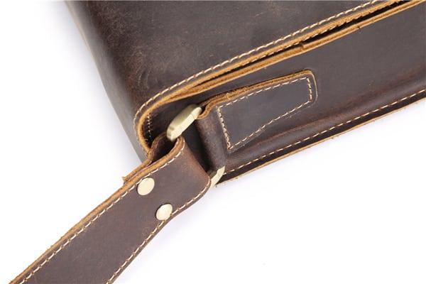 Túi đeo chéo nam công sở da bò sáp đựng tài liệu A4 KT57 quai đeo chắc chắn