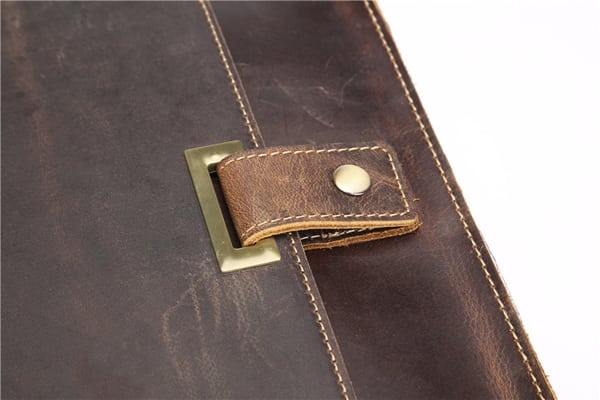 Túi đeo chéo nam công sở da bò sáp đựng tài liệu A4 KT57 khóa túi