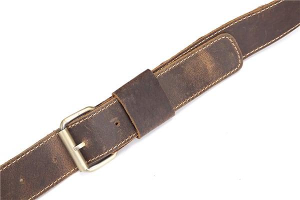 Túi đeo chéo nam công sở da bò sáp đựng tài liệu A4 KT57 dây đeo chéo
