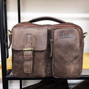 Túi xách nam da thật hàng hiệu Jeep đựng iPad mẫu mới 2017
