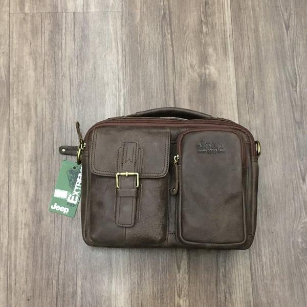 Túi xách nam da thật hàng hiệu đựng iPad J19 mặt trước