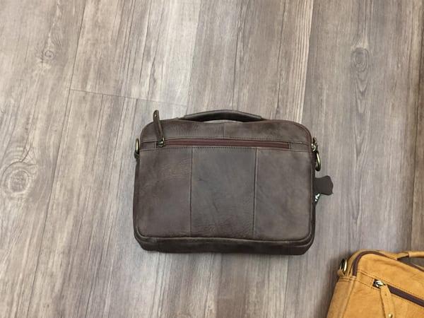 Túi xách nam da thật hàng hiệu đựng iPad J19 mặt sau
