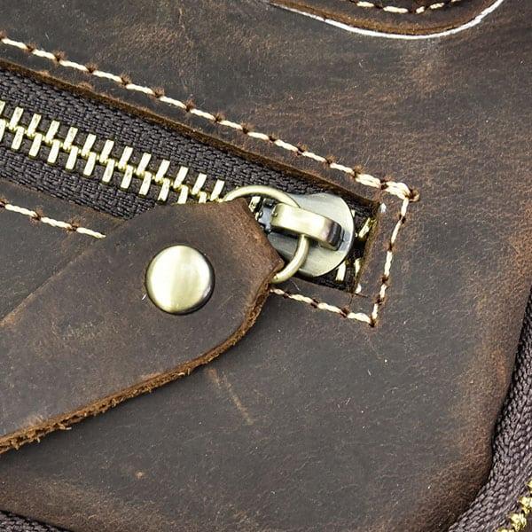Túi đeo chéo nam da bò sáp dạng hộp KT58 khóa túi