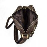Túi đeo chéo nam da bò sáp dạng hộp KT58 hình ảnh ngăn chính