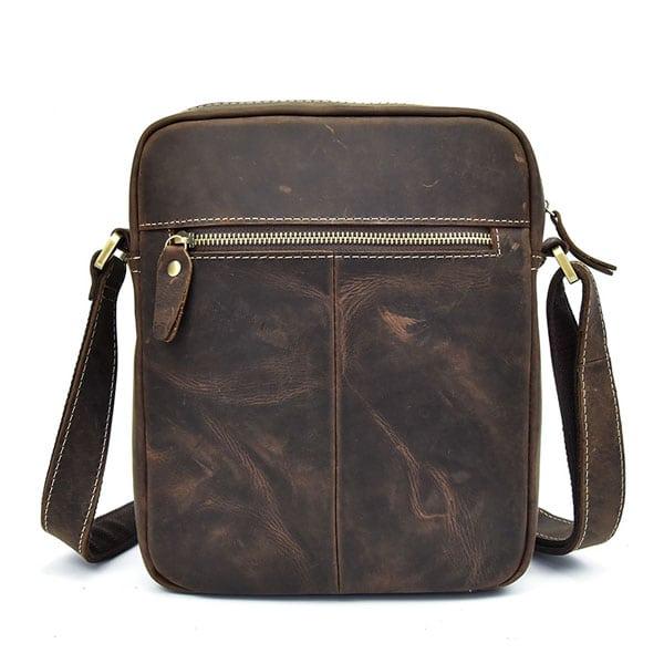 Túi đeo chéo nam da bò sáp dạng hộp KT58 mặt sau