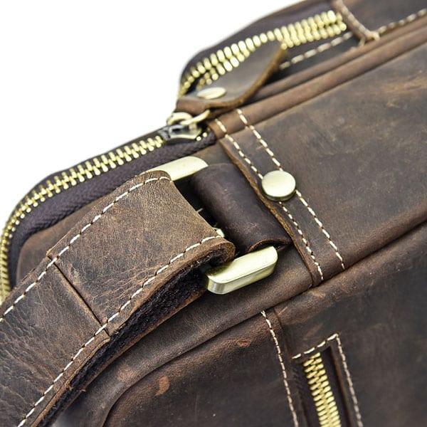 Túi đeo chéo nam da bò sáp dạng hộp KT58 quai túi
