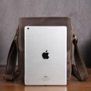 Túi da nam đeo chéo da bò sáp thời trang nam tính KT59 đựng vừa iPad