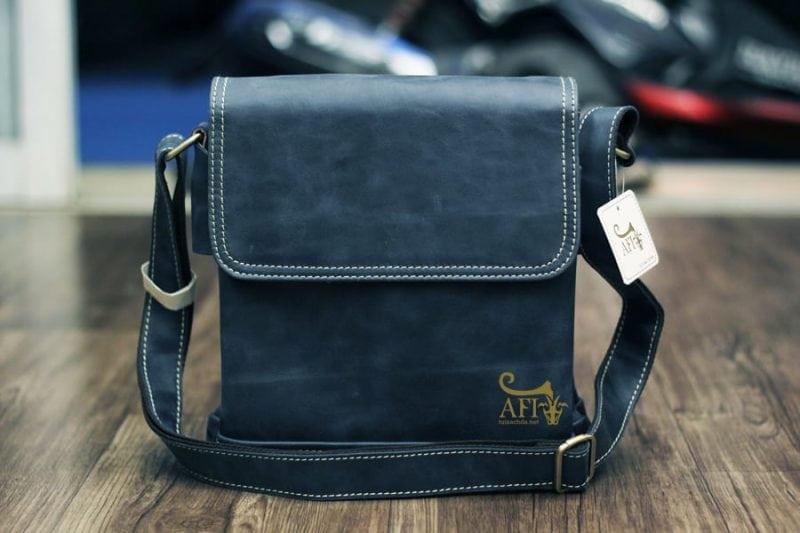 Túi da nam du lịch cao cấp giảm giá KT15 mẫu mới màu xanh nhạt