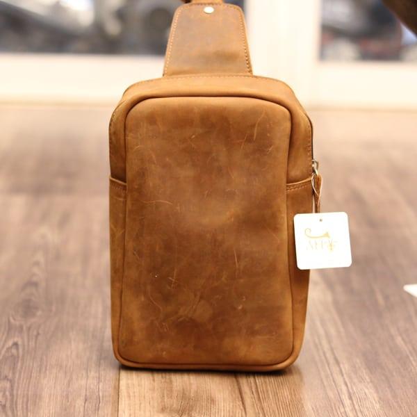 Túi đeo lưng da bò sáp TDL 21