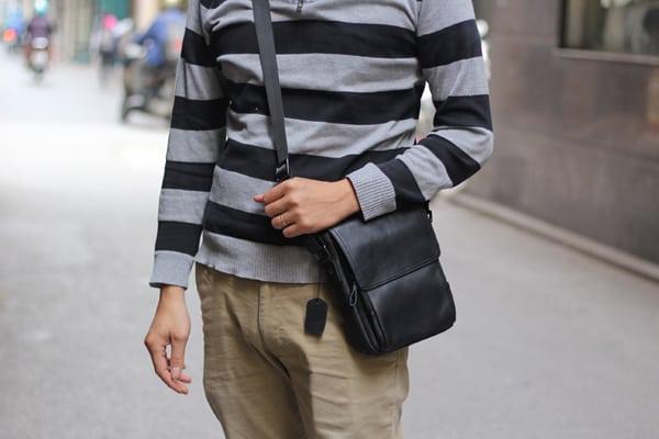 Túi đeo chéo nam da cừu KT60