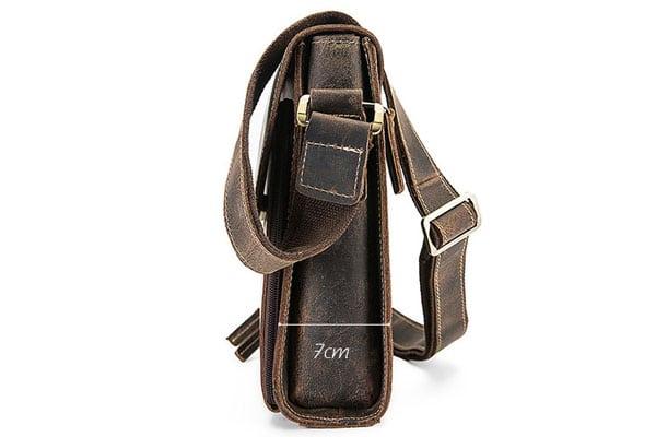 Túi xách nam đeo chéo da bò sáp KT51 màu đen thân túi