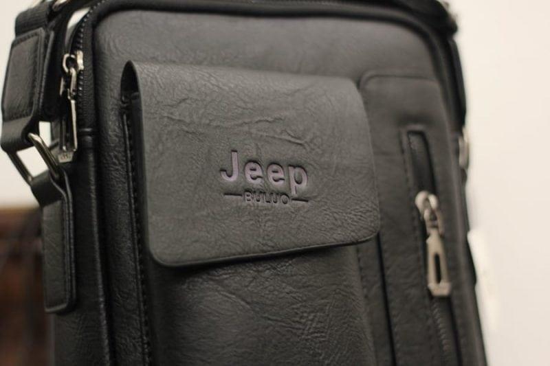 Túi đeo chéo Jeep giá rẻ 04 màu đen - Logo sắc nét