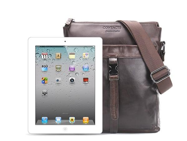 Túi đeo chéo nam da bò contact 03 đựng iPad