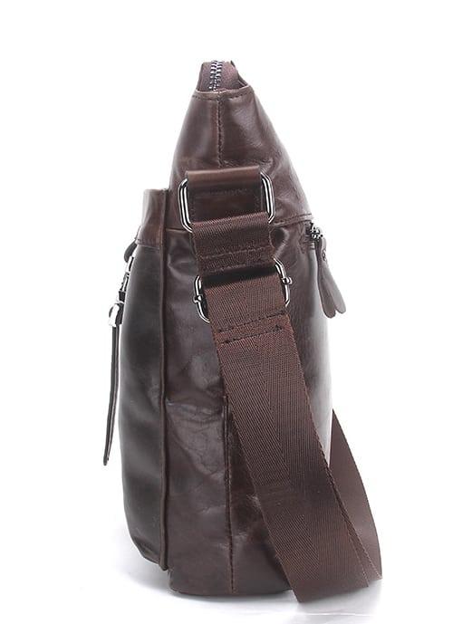 Túi đeo chéo nam da bò contact 03 - thân túi