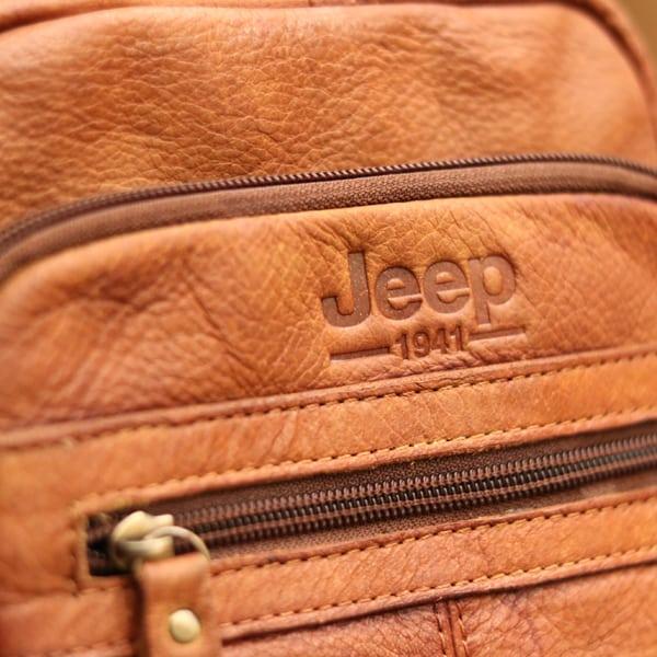 Logo sắc nét túi đeo chéo nam da bò trẻ trung năng động Jeep J32 2017