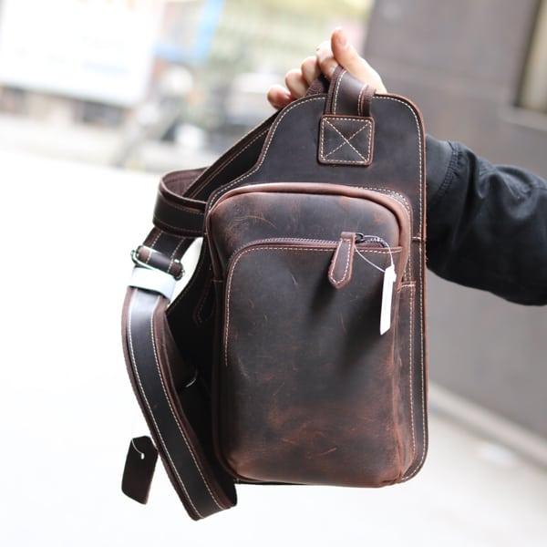 Túi đeo chéo ngực da bò sáp TDL03 New