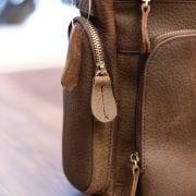 Cặp túi xách đeo chéo nam da thật Contact 11 thân túi dày dặn