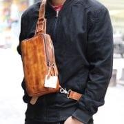 Túi da đeo lưng, ngực thời trang TDL22 đeo trước ngực