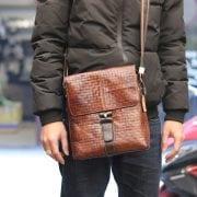 Túi đeo chéo nam công sở mẫu mới 2018 KT67 đeo đằng trước