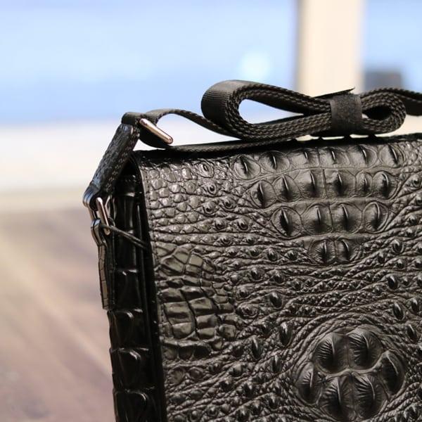Túi đeo chéo nam da bò giả vân cá sấu VCS06 quai túi