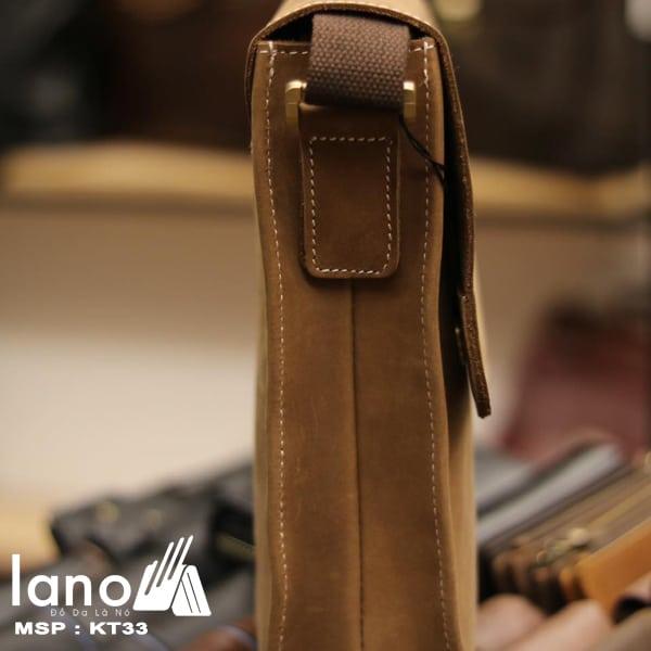 Túi đeo chéo nam da bò thời trang sang trọng KT33 cạnh túi