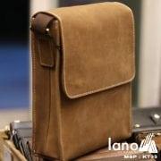 Túi đeo chéo nam da bò thời trang sang trọng KT33 nâu