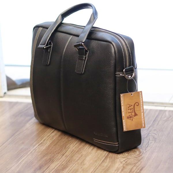 Cặp túi xách nam công sở đeo chéo hàng hiệu Schwarz Etienne 001 nhìn nghiêng