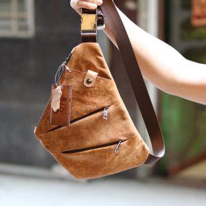 Túi da đeo ngực nam thời trang độc đáo TDL25