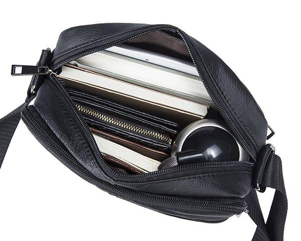 Túi da nam đeo chéo giá rẻ KT69 ngăn đựng rộng rãi