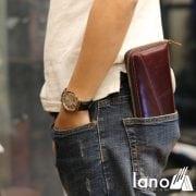 Ví cầm tay nam da bò thời trang sang trọng VCTN021 đút túi sau