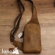 Túi da bò sáp cao cấp đeo chéo lưng cho nam TDL31