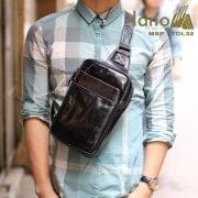 Túi da đeo chéo trước ngực Sling Bag thời trang cao cấp TDL32 đeo chéo  trước ngực