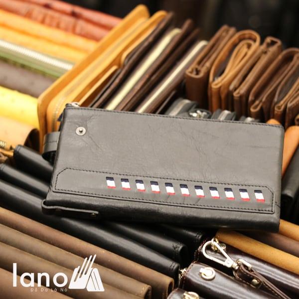 Ví dài cầm tay cho nam da bò thời trang công sở VCTN014 đen