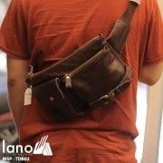 Túi đeo bụng nam da thật thời trang tuyệt đẹp TĐB 002 đeo chéo sau lưng
